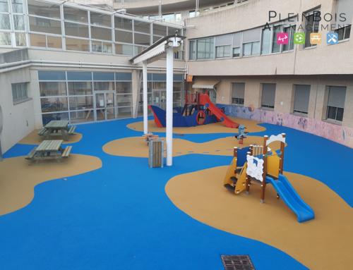 Une aire de jeux restaurée pour la ludothèque du CHU Arnaud de Villeneuve de Montpellier
